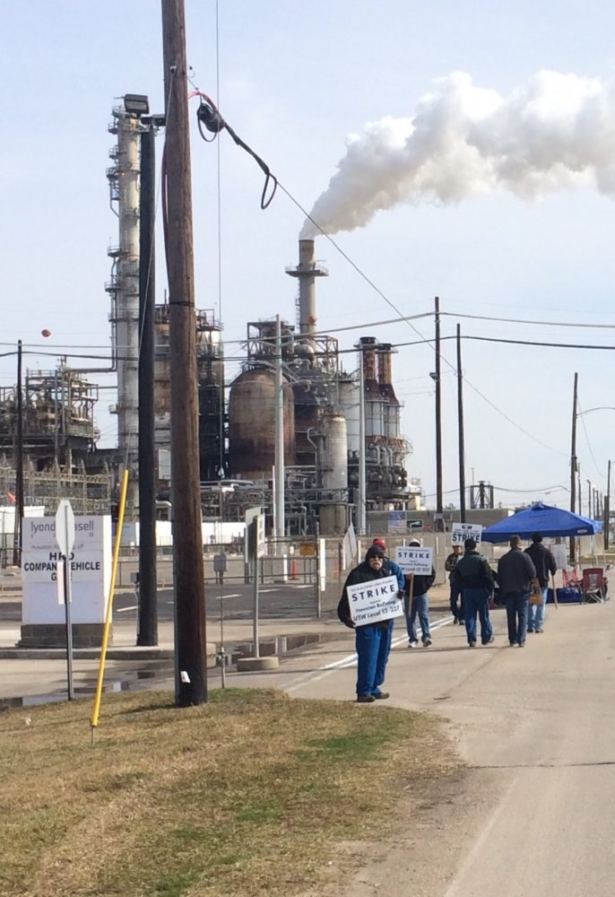 Union Strike at Lyondell facility in Texas