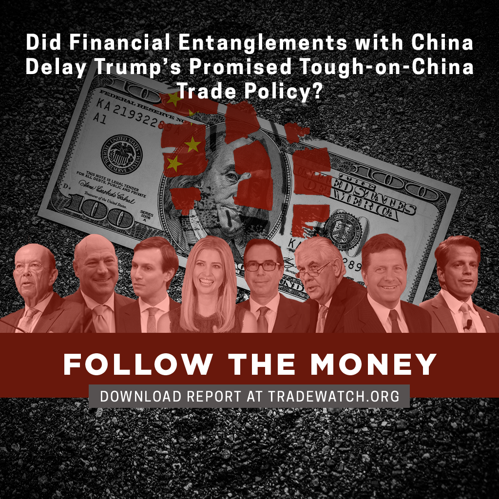 Did financial entanglements with China delay Trump's promised tough-on-China trade policy? Follow the money. Download the report.